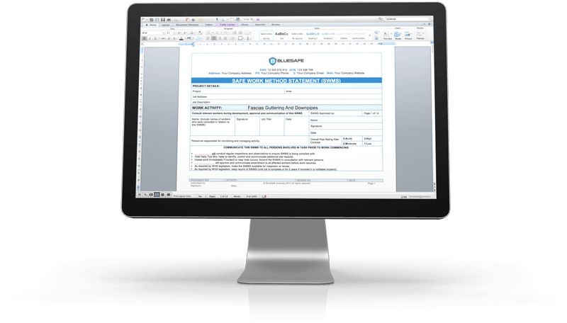 Safe Work Method Statements | BlueSafe