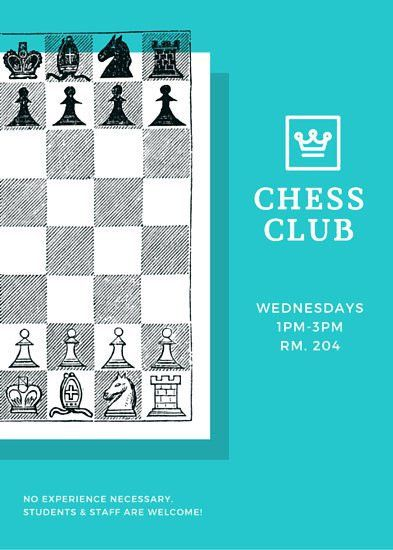 Chess Team Recruitment Flyer - Templates by Canva