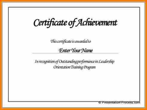 8+ certificate of achievement template | resume reference
