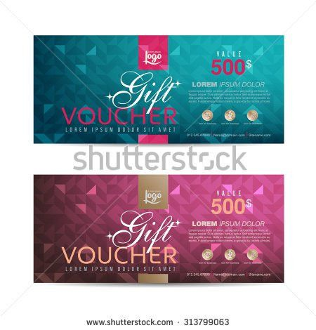 Purple Voucher Template Coupon Design Gift Stock Vector 522330949 ...