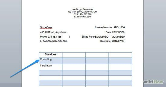 Services Rendered Invoice | Samples.csat.co