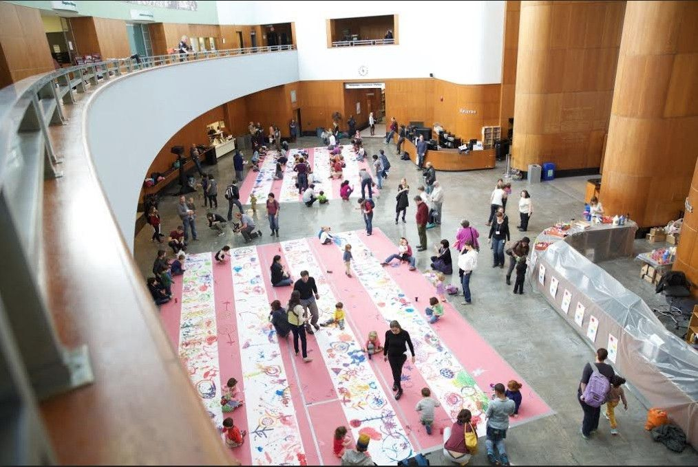 Author/Illustrator hosts large-scale painting collaboration ...