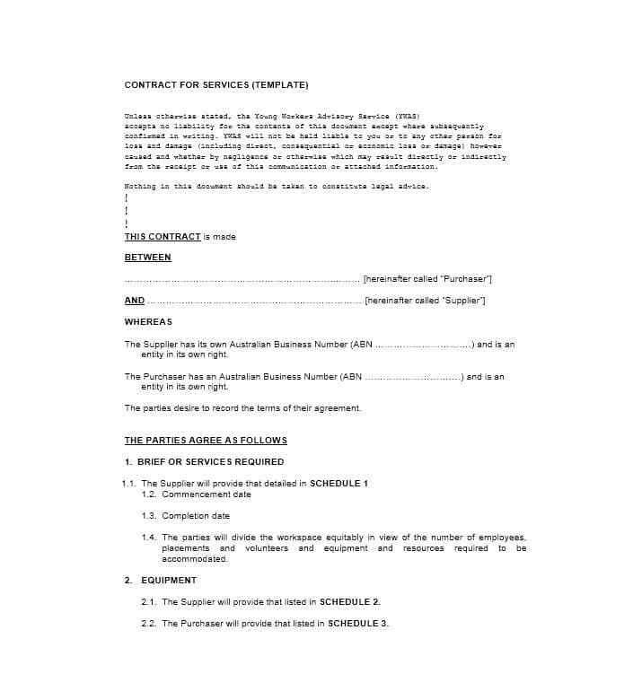 Agreement For Services Template. travel services agreement ...