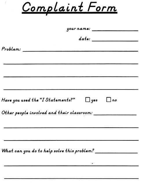 Complaint Form. Uploaded By, Nasha Razita Complaint Forms Template ...