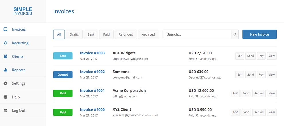 Simple Invoices & Fast Payments For Freelancers