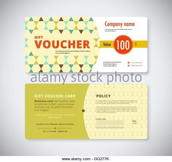 Vintage Gift Voucher Template Stock Photos & Vintage Gift Voucher ...