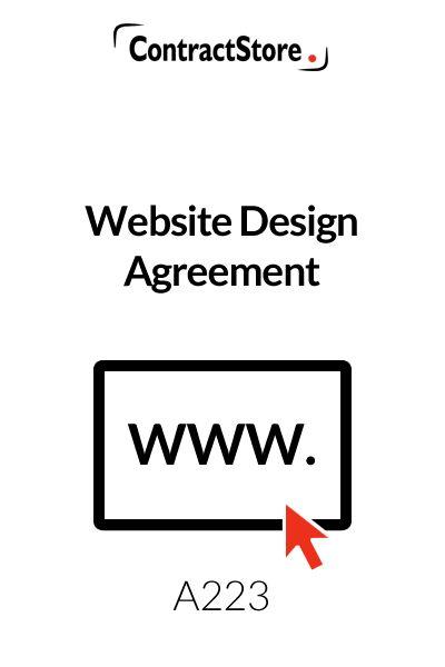Website Design Agreement Template   ContractStore