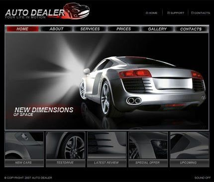 Car Dealer Templates | Auto Dealer Designs - Auto Dealer Website ...