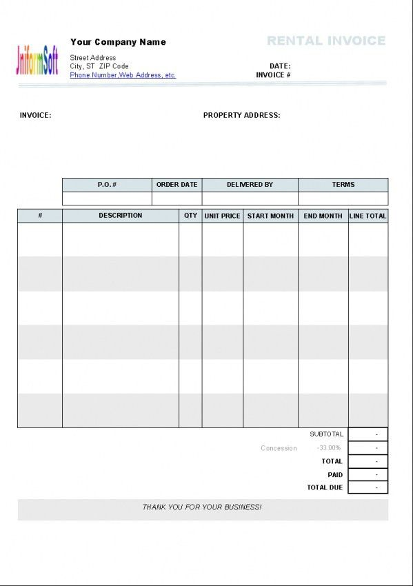 Simple Hotel Bill Format In Word | Design Invoice Template