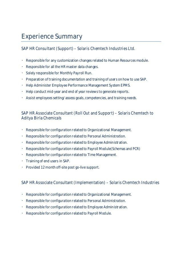 Akshay Dhar- SAP HR Consultant Resume
