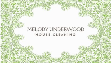 Girly Cleaning Services Business Cards - Page 1 - Girly Business Cards