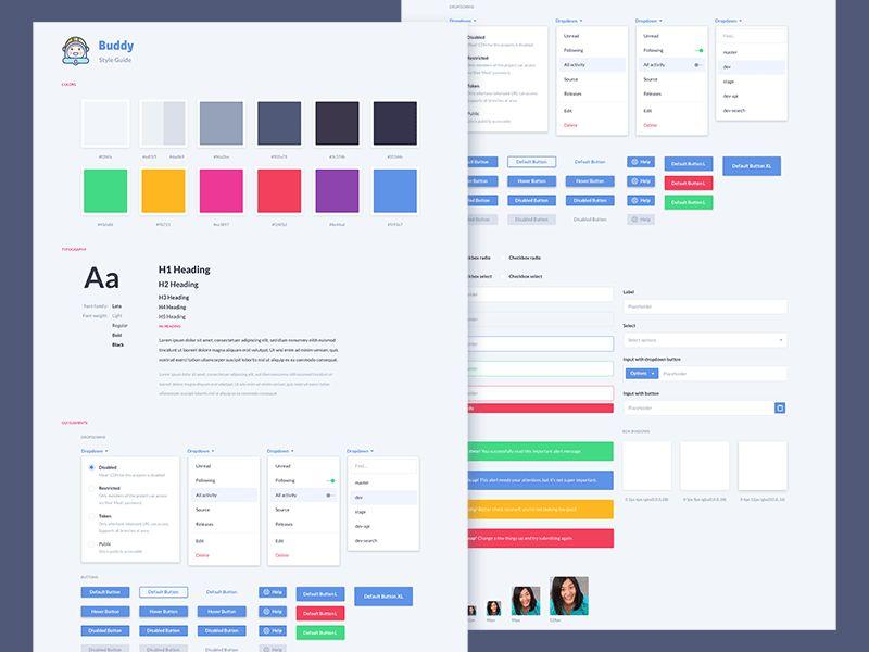 Style Guide Inspirations – Muzli -Design Inspiration