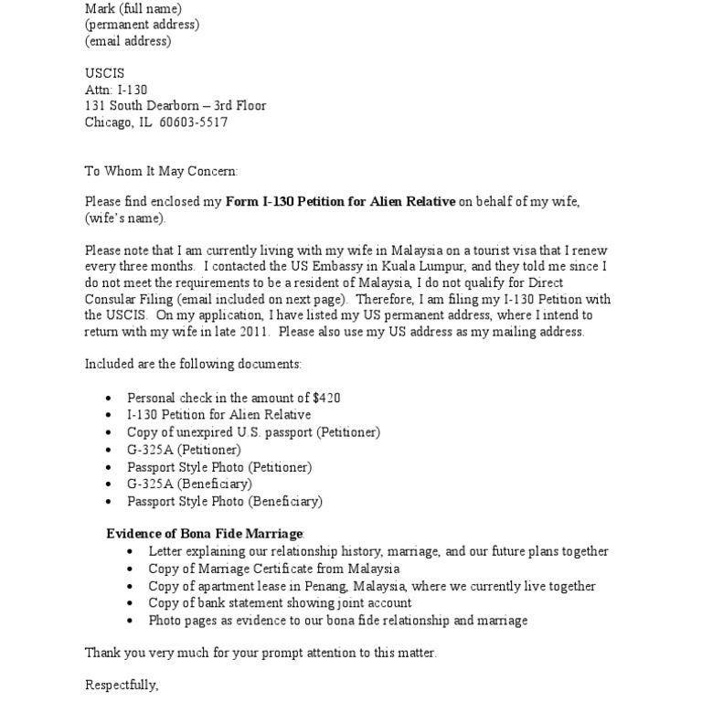 Pretentious I 130 Cover Letter 2 For Sample - CV Resume Ideas