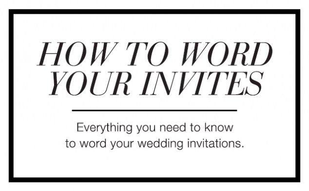 Awesome Album Of Words To Put On A Wedding Invitation Which ...
