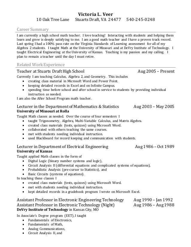 Math Tutor Cover Letter