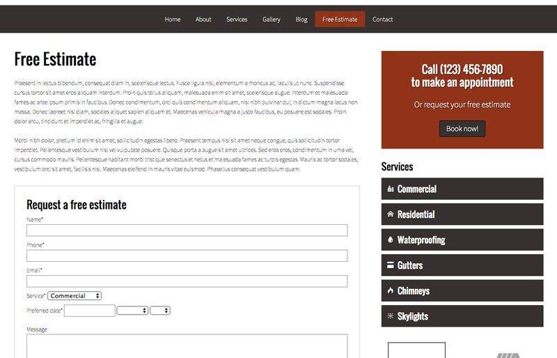 Roofing Wordpress Theme - Premium Website Template