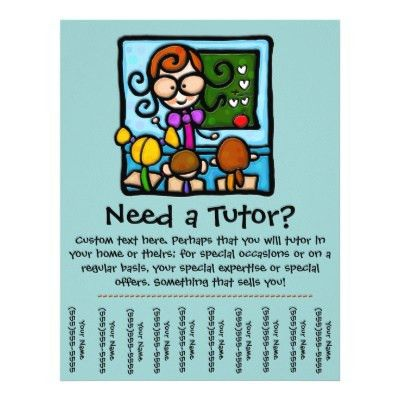 Flyer Tear Off Tabs Template | Flyer Tutoring | tutor | Pinterest ...