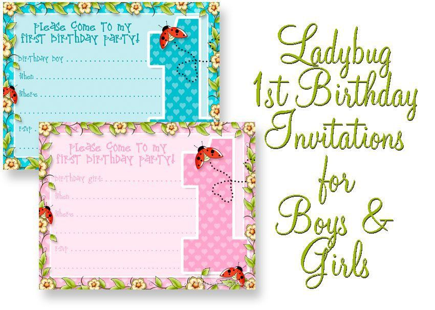 Printable 1st Birthday Party Announcements | Printable Party Kits