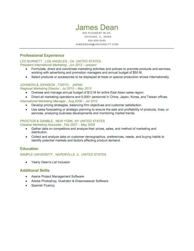 Examples Of Chronological Resume. Free Chronological Resume ...