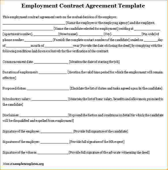 7+ Work Contract Template | Timeline Template