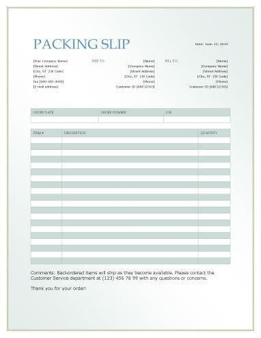 13 Free Packing SlipTemplates [Word and Excel]