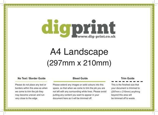 DigPrint A4 Landscape Flyers 297mm x 210mm Download Templates from ...