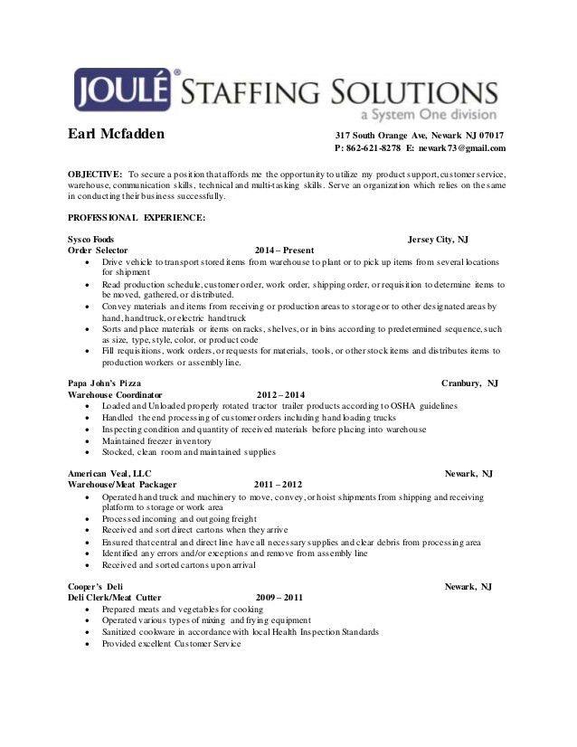 Meat Cutter Job Description Resume #11356