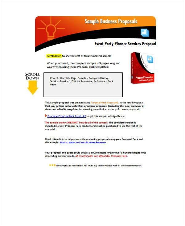 Corporate Event Proposal Templates - 7 Free Word, PDF Format ...