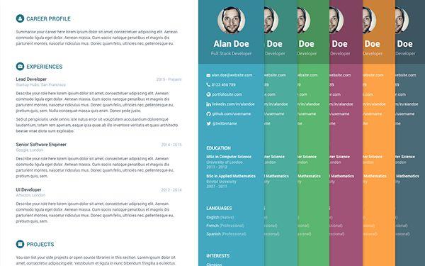Free Bootstrap Resume/CV Template for Developers - Orbit