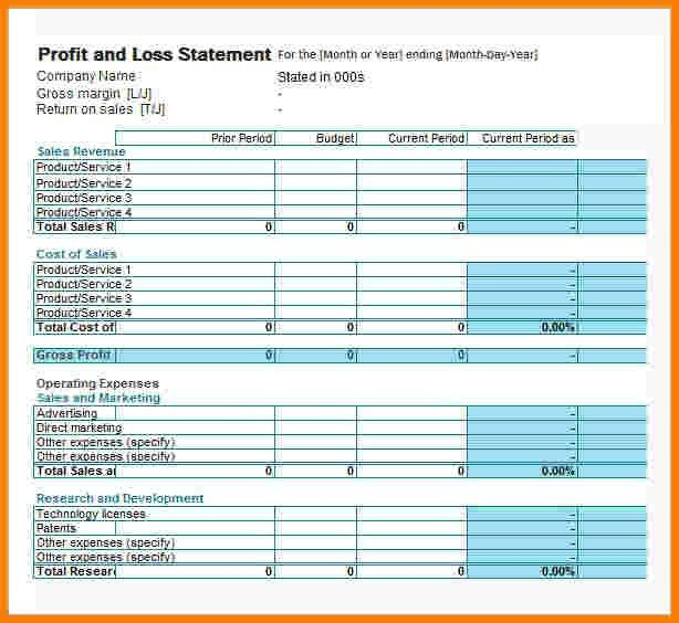 8+ profit loss statement template | Case Statement 2017