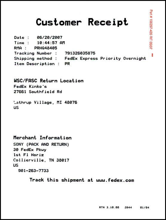 FedEx Return System - Online Tutorial - Detailed Instructions