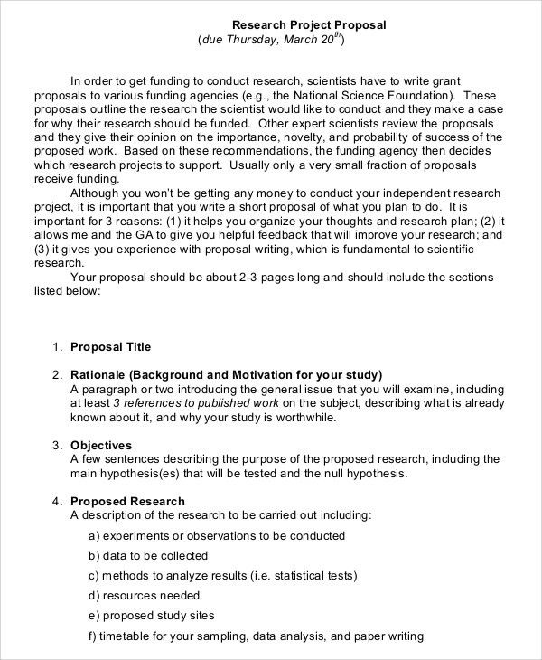 Sample Project Proposal - 7+ Documents in Word, PDF