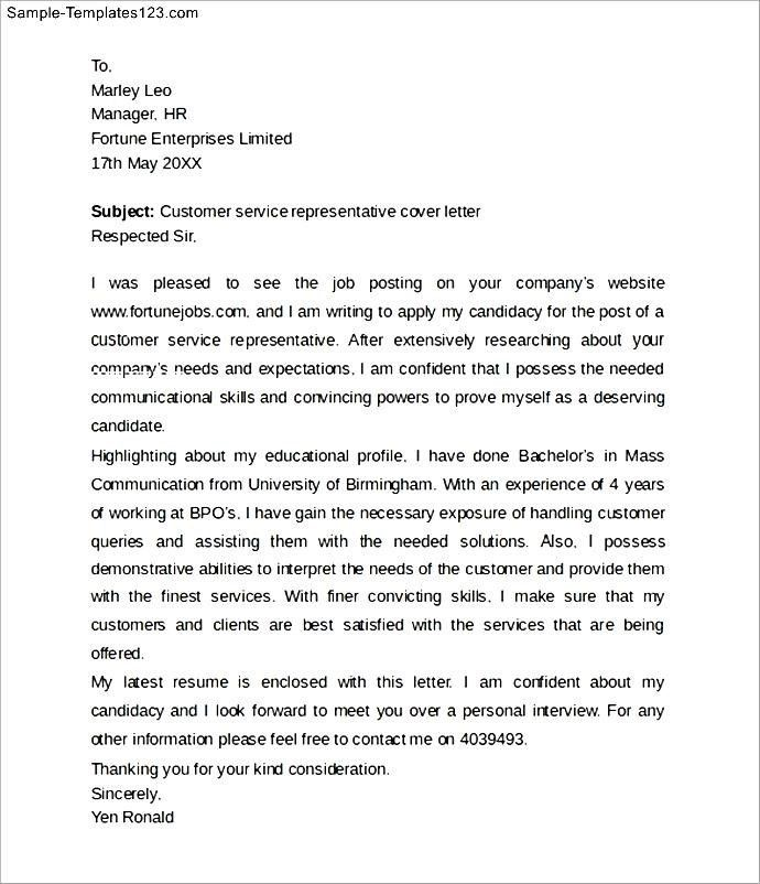 experienced customer service cover letter Car Tuning inside Cover ...