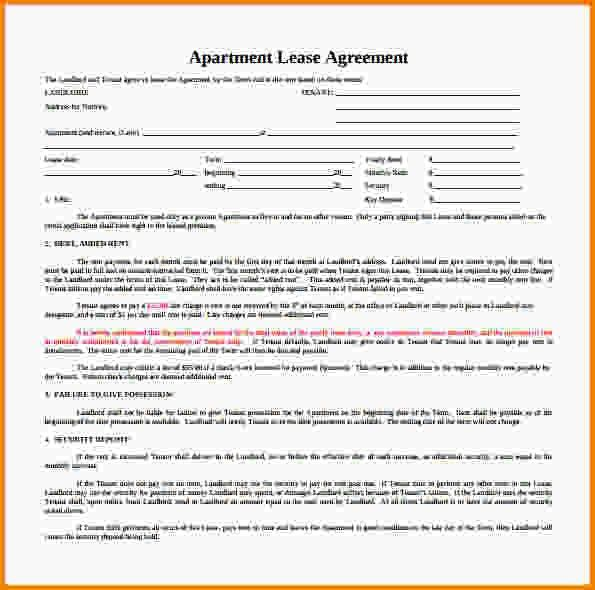 10+ apartment rental agreement | Letter Template Word