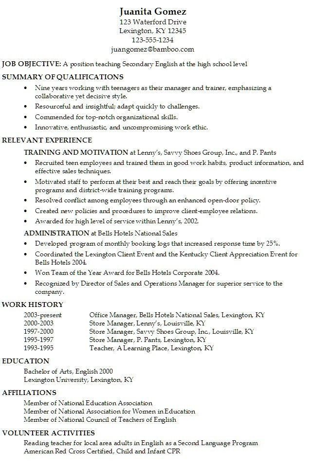 Download Resume For Teens | haadyaooverbayresort.com
