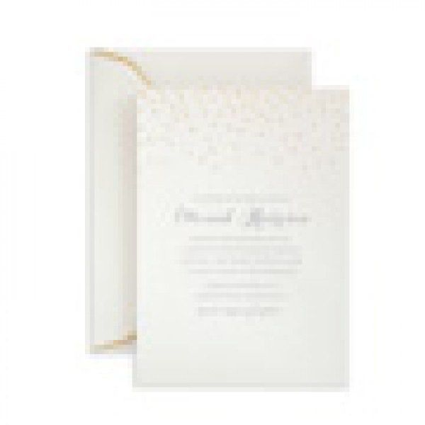 GOLD FOIL DOTS INVITATION 25CT | Gartner Studios