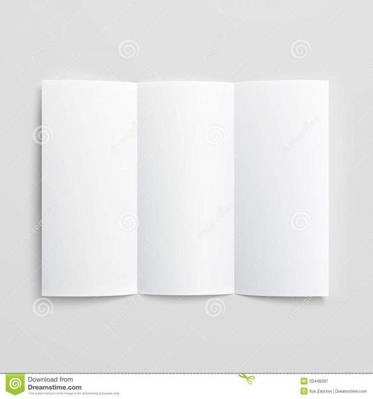 Blank Brochure Template. Blank Trifold Paper Brochure Stock Photos ...