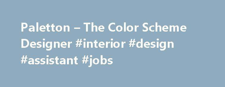 Paletton – The Color Scheme Designer #interior #design #assistant ...
