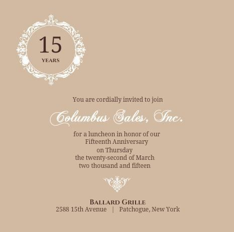 Business Anniversary Invitation Wording Ideas & Etiquette Tips