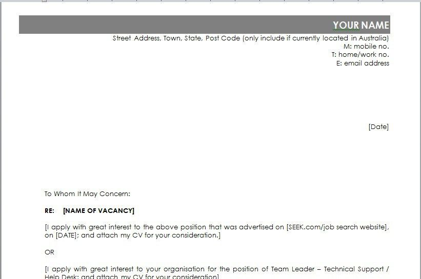 Marketing Yourself: Australian Cover Letter | Find Sponsored Jobs ...