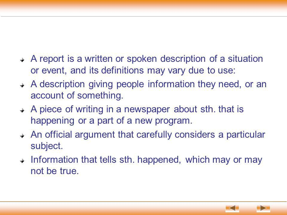 English Report Writing - ppt download