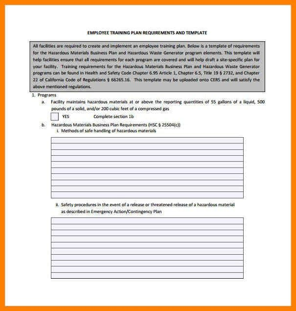 8+ employee training plan template | resigning letter