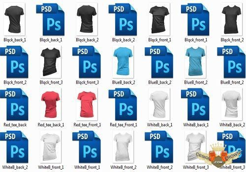 t-shirt template psd for Photoshop free collection