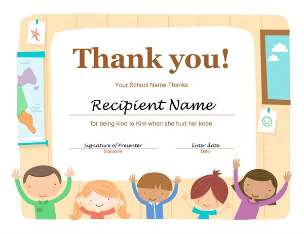 Thank you certificate - Office Templates