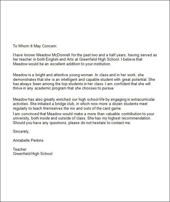 Recommendation Letter For Student. Math Teaching Mentor Sample ...