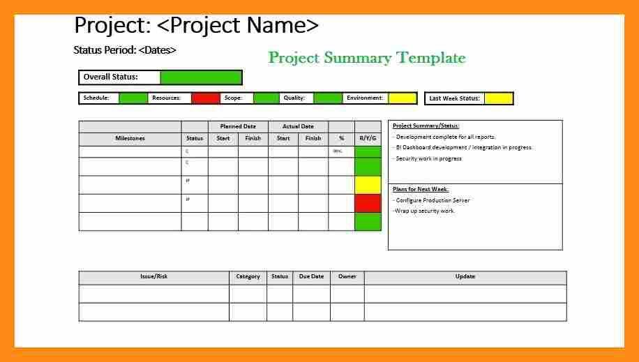 10+ project summary template | actor resumed