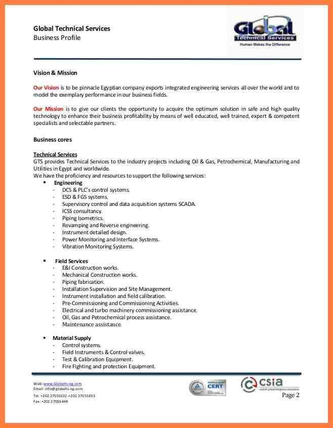 8+ engineering company profile sample | Company Letterhead
