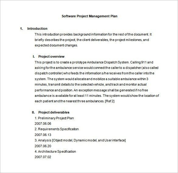 Project Management Plan Template - 4 Free Word, Pdf, Excel ...