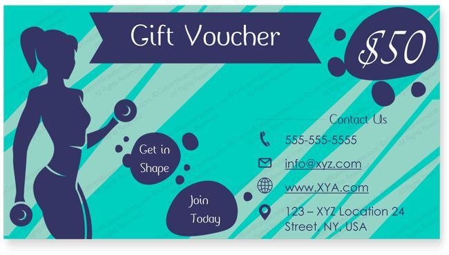 Gym Gift Certificate Template #giftcard #giftcertificate ...