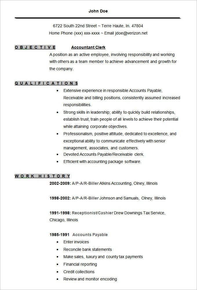 Download Accounting Resume Template | haadyaooverbayresort.com
